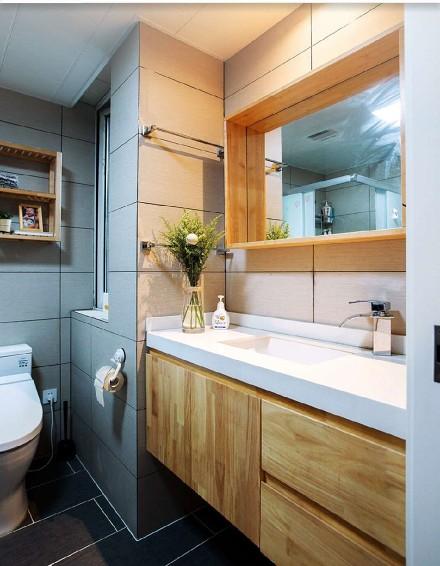 101平米的三居室,北欧风格卫生间