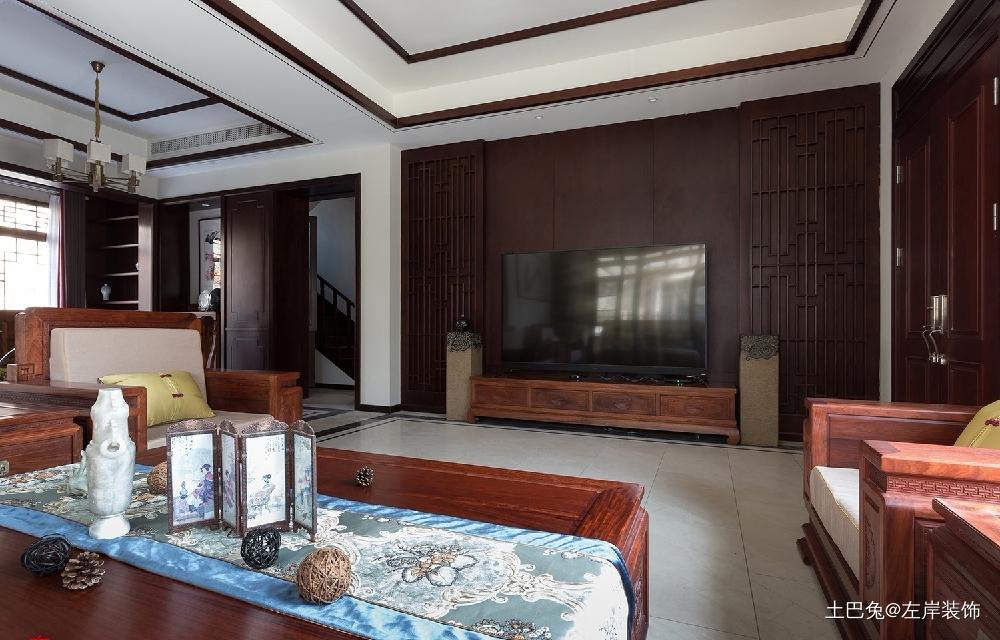 260平方中式风格设计红木家具搭配设计客厅中式现代客厅设计图片赏析