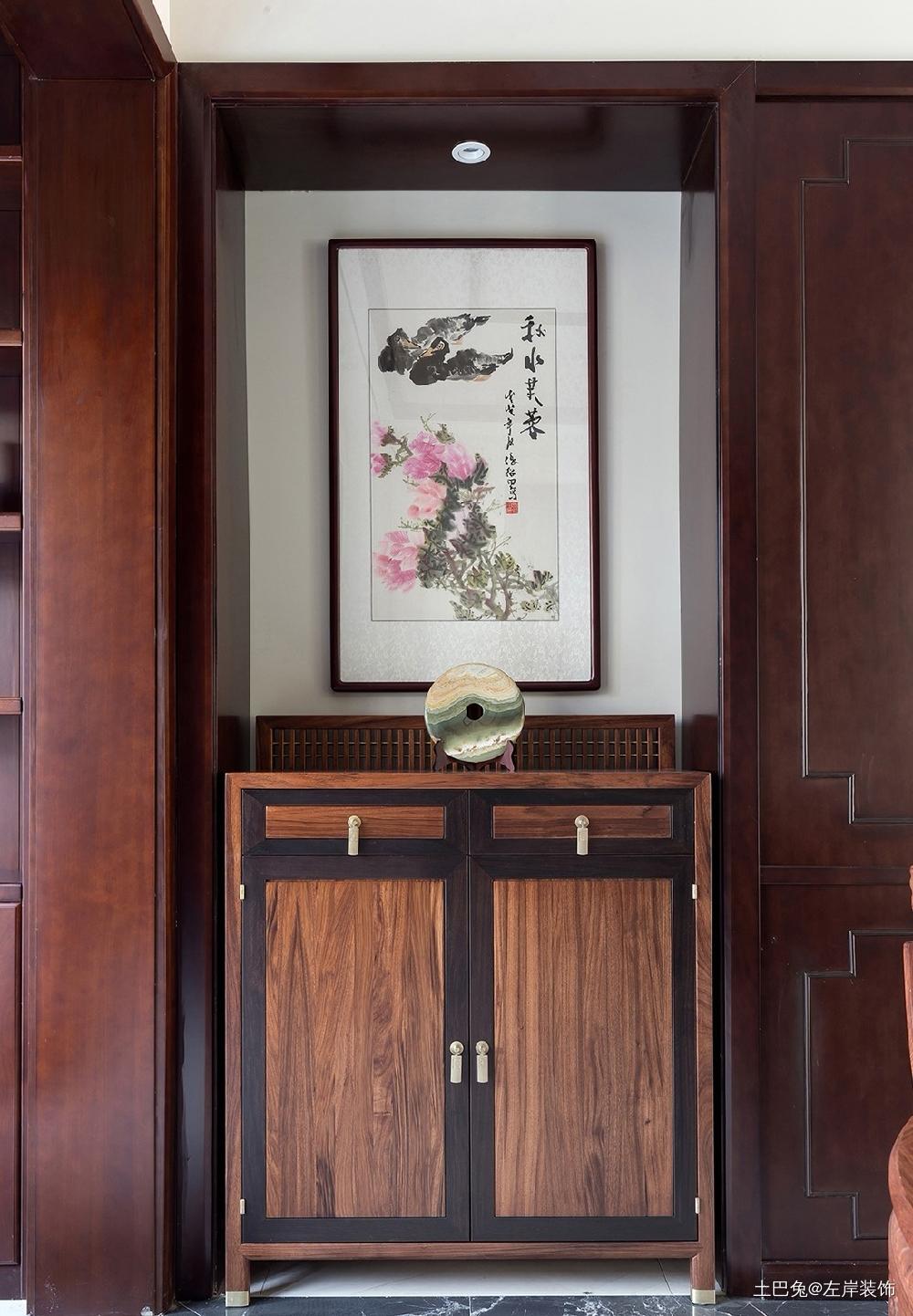 260平方中式风格设计红木家具搭配设计玄关中式现代玄关设计图片赏析