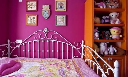 135㎡现代简约,波普配色美丽淡雅卧室