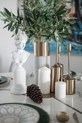 130㎡轻奢素雅风90后婚房居住空间厨房现代简约设计图片赏析
