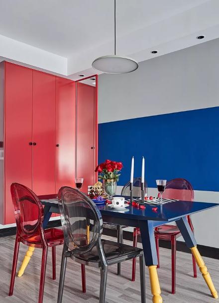 孟菲斯风格,35万打造的两居室厨房1图