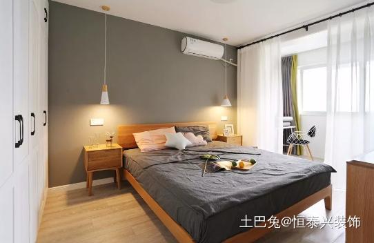 98㎡北欧风格装修儿童房装修太赞了!卧室北欧极简卧室设计图片赏析