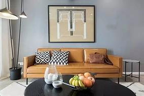 北欧三居室,最爱我家的棕色沙发!12326929