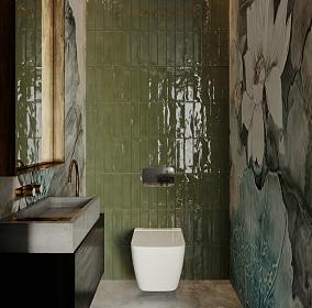 现代波希米亚风,比极简暖一点卫生间1图其他设计图片赏析