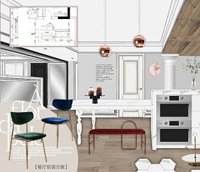 花样年别样城色彩美学搭配设计厨房美式田园设计图片赏析