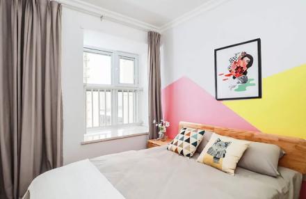 90㎡北欧小三房,原木格调,简约又舒适卧室
