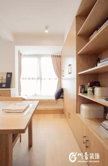 100平日式丨原木搭建的小窝,清新优雅厨房
