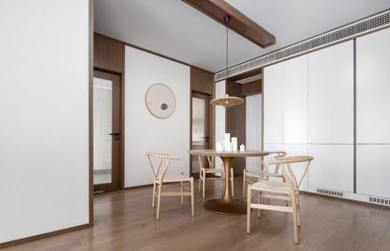 简单线条原色演绎现代中式风格真实效果厨房