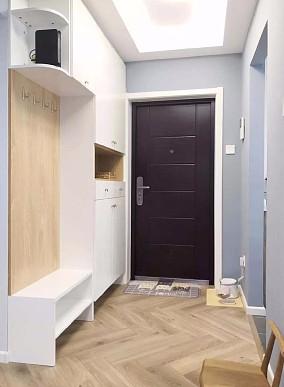 100平的北欧风二居室案例玄关北欧极简设计图片赏析