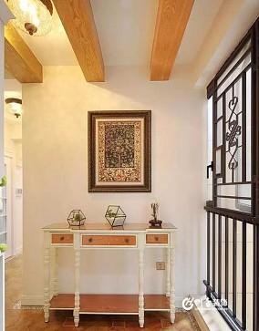100平美式三居 餐厅两用性设计玄关美式经典设计图片赏析