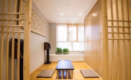 118㎡的木色自然,入户玄关与茶室融合玄关