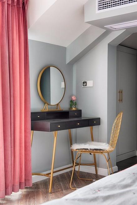 144平轻奢风格简约而温馨卧室