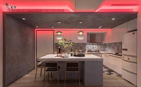 打破常规,115㎡现代风格住宅厨房现代简约设计图片赏析