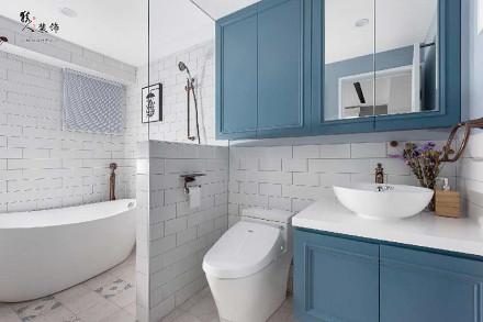 65平二居室,多样化的配色和收纳卫生间