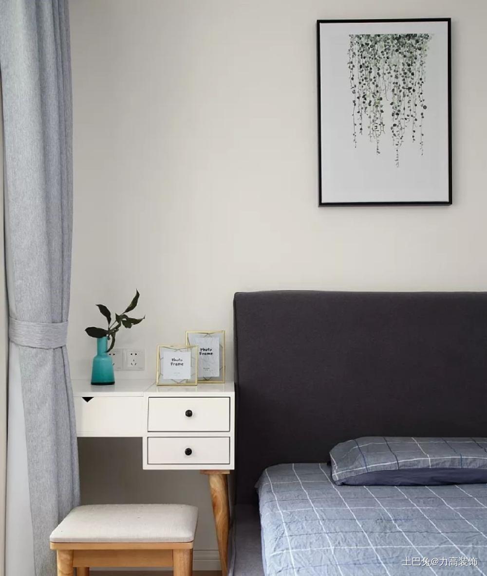 80平装修设计公司案例卧室北欧极简卧室设计图片赏析