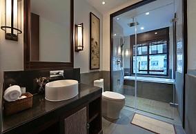 280㎡新中式住宅居家设计方案卫生间中式现代设计图片赏析