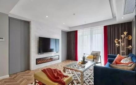 140平米+时尚混搭+三居室客厅