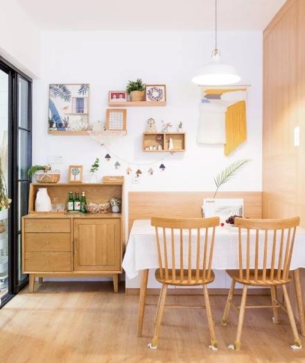 日式北欧简单木质感原始的自然厨房