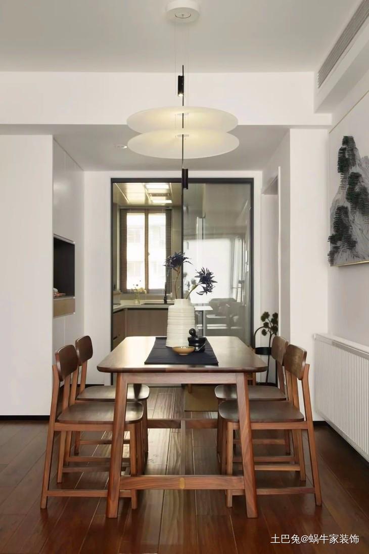 118平现代混搭新中式厨房中式现代餐厅设计图片赏析
