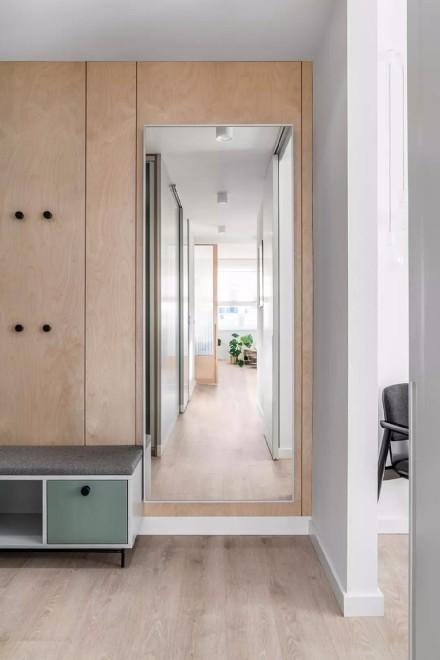 45平米+北欧风格+一居室阳台