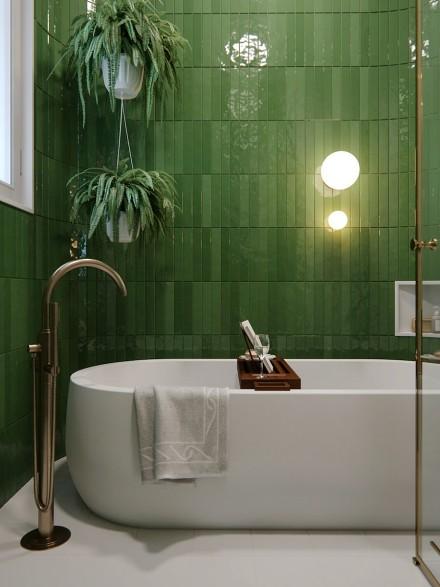 时尚简约混搭设计,舒适雅致的居所卫生间1图