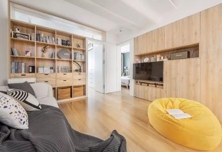 84平建面两室也能有独立衣帽间客厅