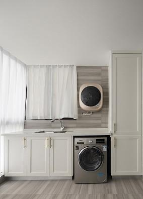 虞夏浅梦,融于质感的灰调美式阳台其他设计图片赏析