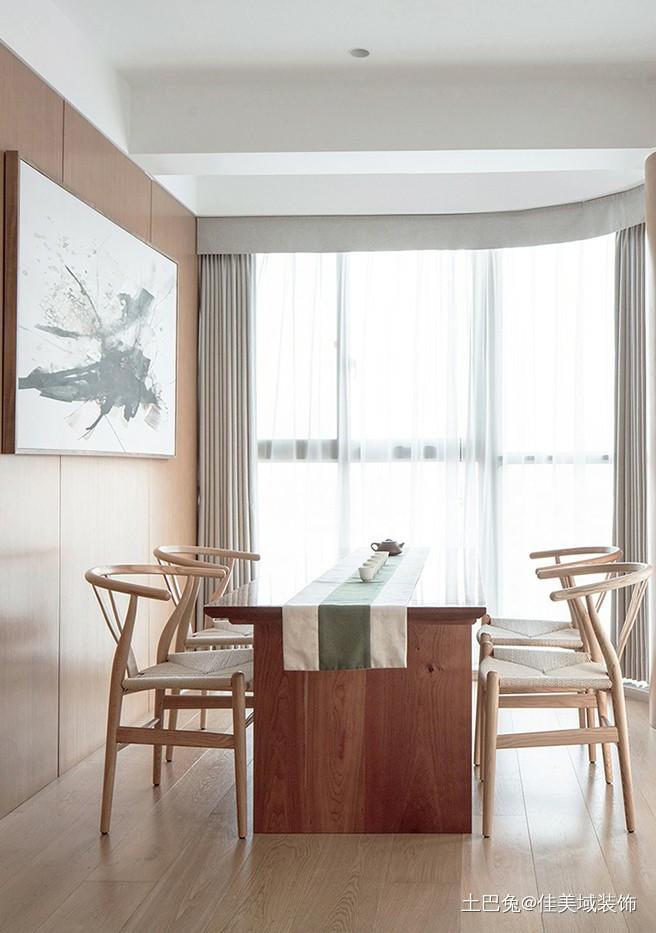 77㎡现代风木饰家居温润和谐!厨房现代简约餐厅设计图片赏析