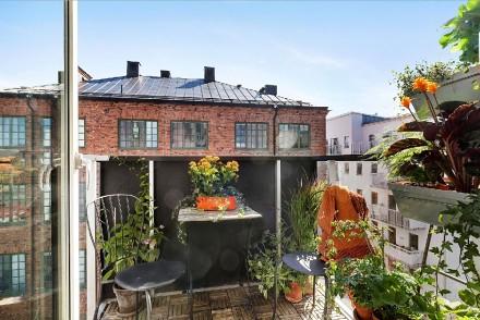 这个北欧风格装修,色彩搭配最出彩阳台