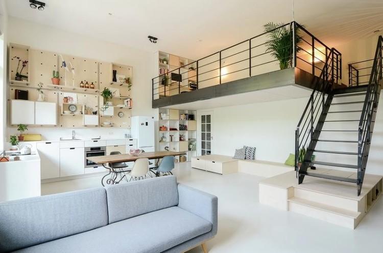 极简温馨的多层住宅,小小空间大大利用