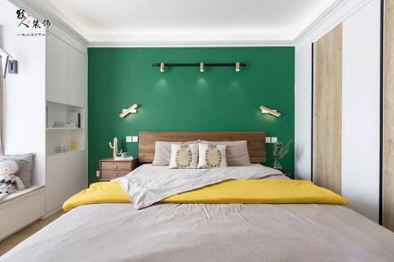 """110㎡""""森林""""幸福小家,设计很赞!卧室"""
