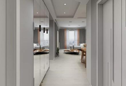 62平方现代混搭风格两居室玄关