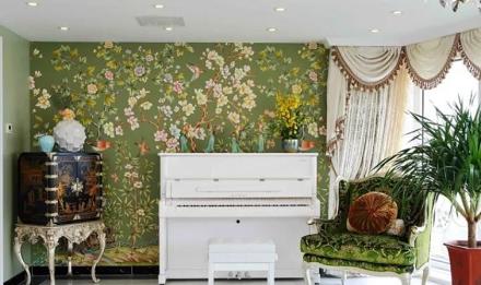 125㎡欧式风格,翡翠湾客厅