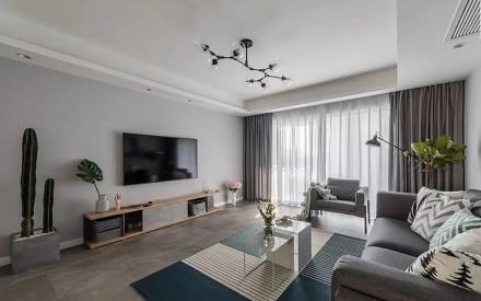 109m²北欧风格设计,自然怡人客厅