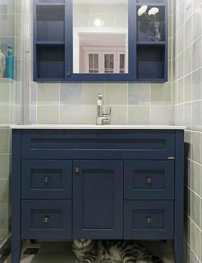 120平米的三居室,美式风格卫生间美式经典设计图片赏析
