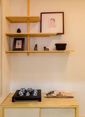 90平米原木与禅意二居室功能区日式设计图片赏析