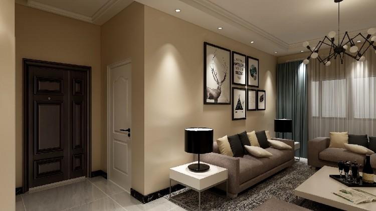 简单大方,简单的吊顶,简单的电视背景墙。