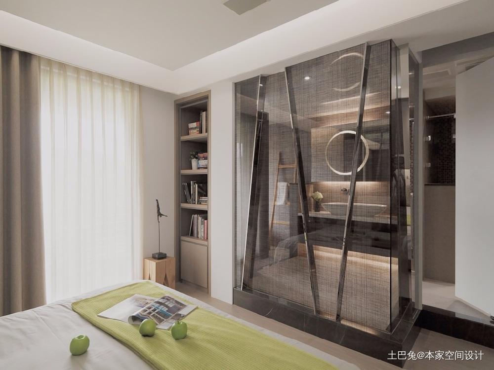 现代简约风格装修高级灰的简约客厅背景墙卧室现代简约卧室设计图片赏析
