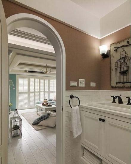 舒适三居室,地中海的别样温馨卫生间