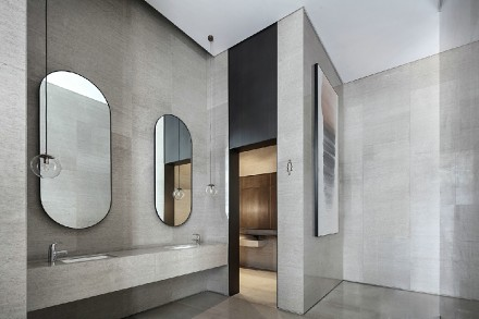 140平现代风格三室一厅玄关