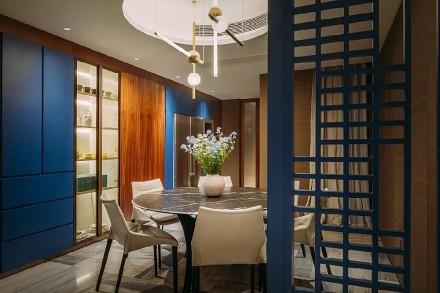 文人主义宅邸300m²餐厅