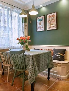 125平米的三居室,美式风格餐厅美式经典设计图片赏析