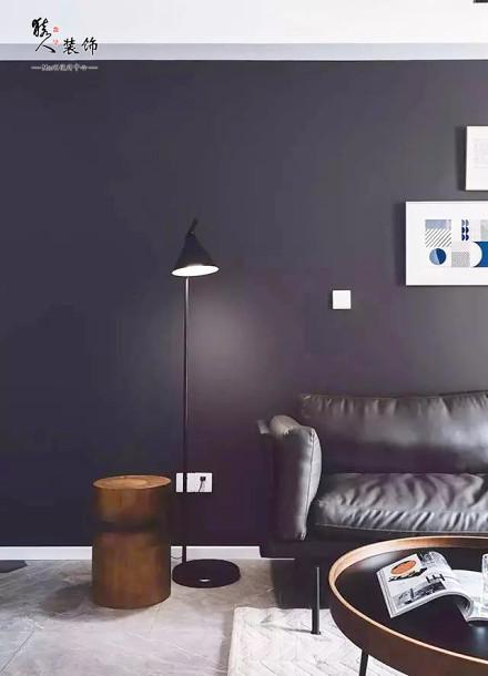 110平三房,黑白灰经典配色客厅