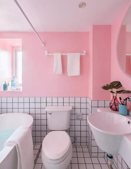 孟菲斯风格,20万打造的三居室卫生间