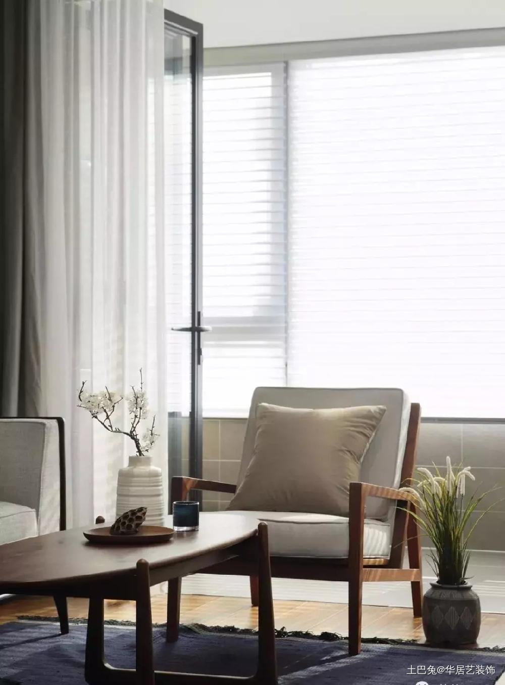 木质与混搭新中式的自然氛围客厅其他客厅设计图片赏析