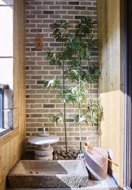 120平素净日式两居开放式榻榻米休闲区阳台