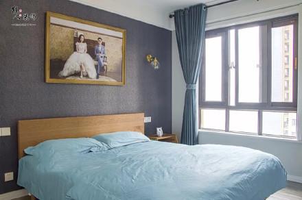 90平日式三居,满满的原木味道卧室1图