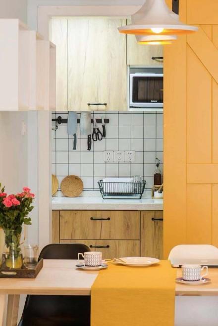 80㎡三室一厅北欧风格厨房