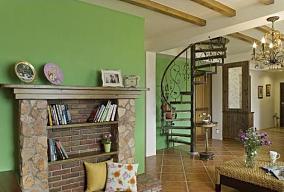 美式田园温馨的两居室客厅美式田园设计图片赏析